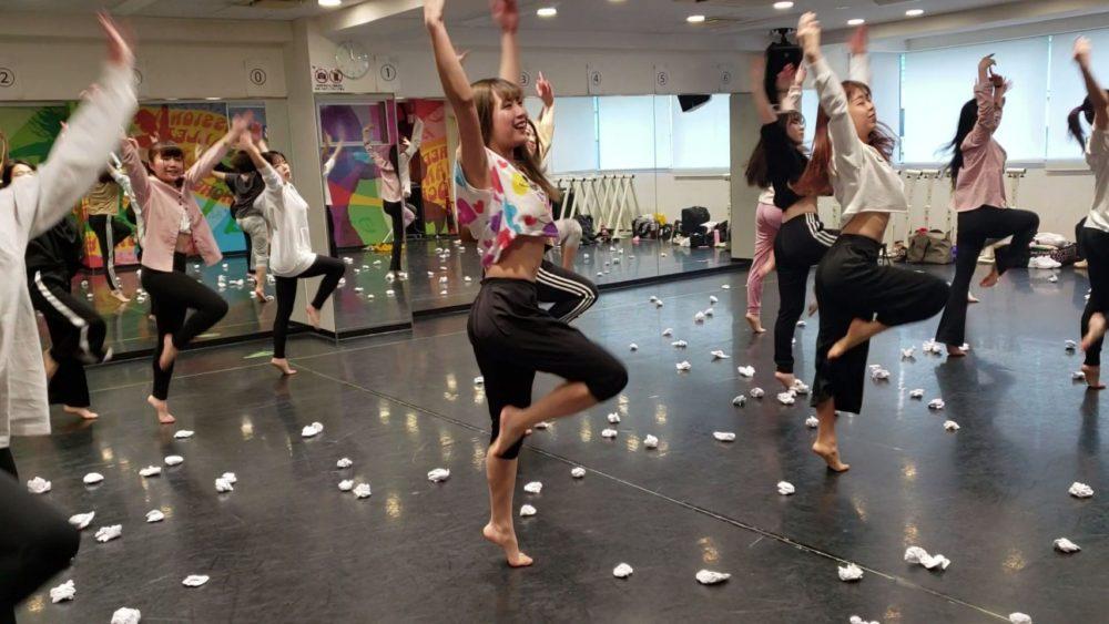 ダンス卒業制作展 学生ナンバーのリハ